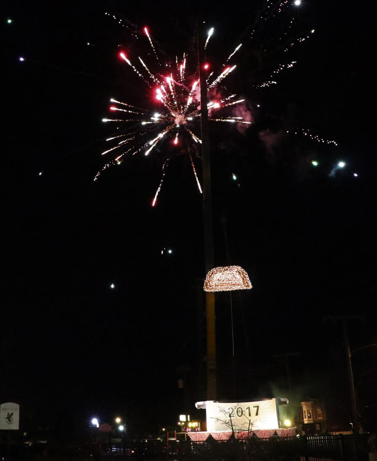 Whiting kicks off new year with pierogi drop