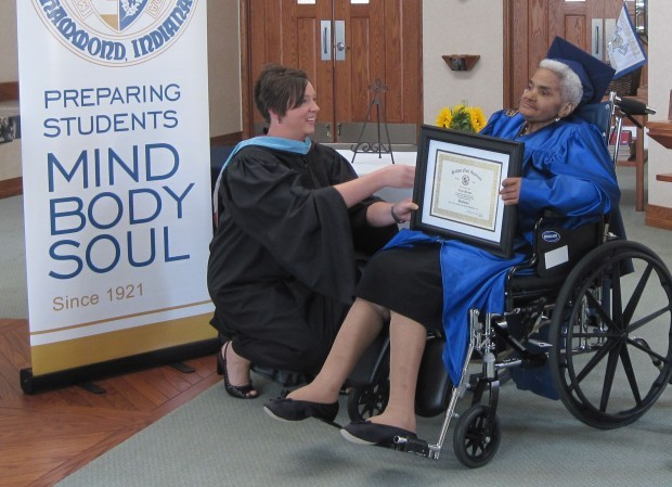 70-year-old gets her high school diploma