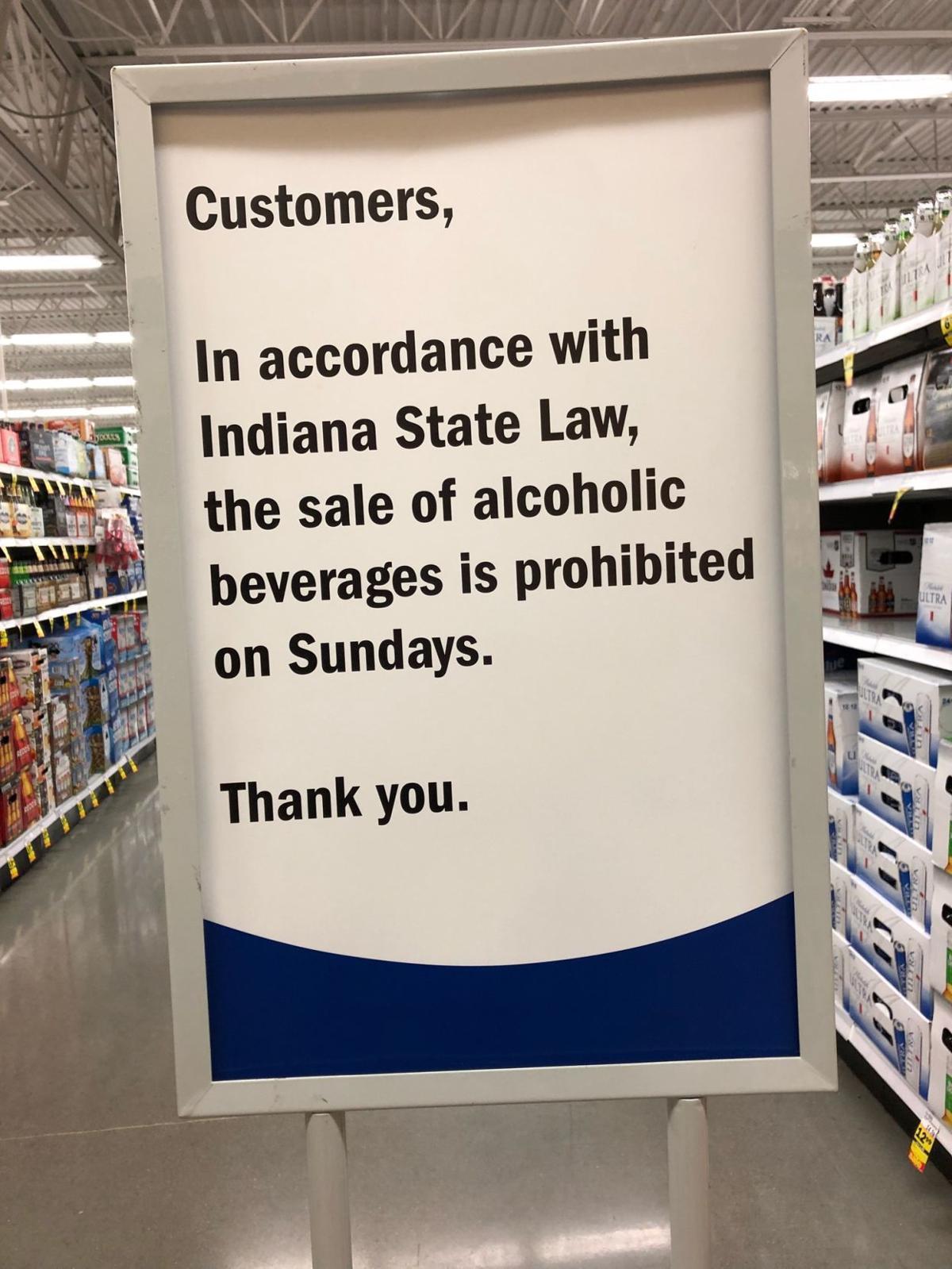 Sunday sales sign