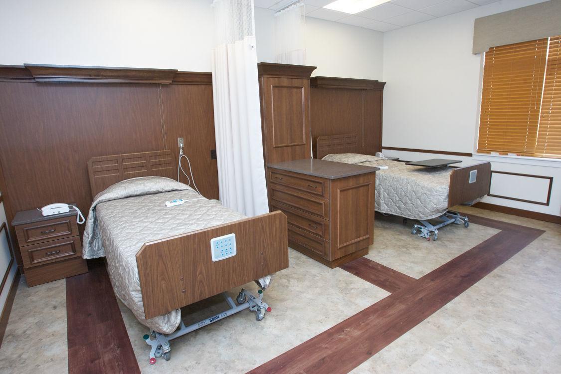 Short-term care room at Dyer Nursing and Rehabilitation
