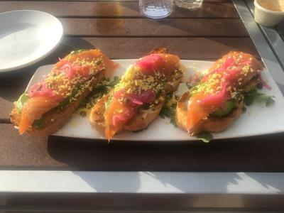 TASTE TEST: Arcadia offers avocado toast with smoked salmon and a great view