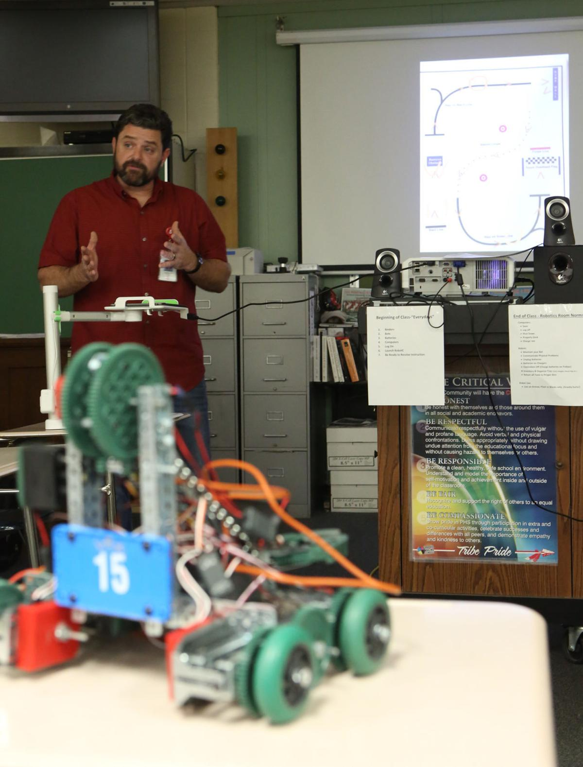 Learning robotics at Portage High School