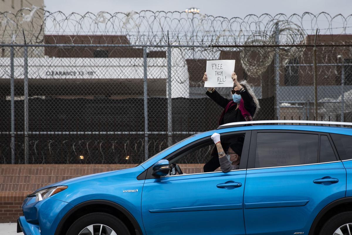 Virus Outbreak Jail Protest Illinois
