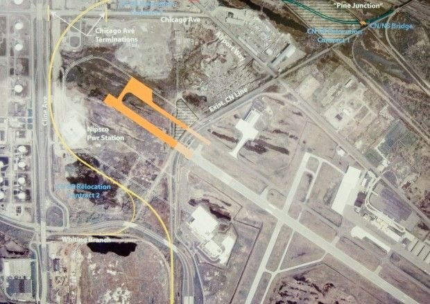 Gary/Chicago International Airport expansion map