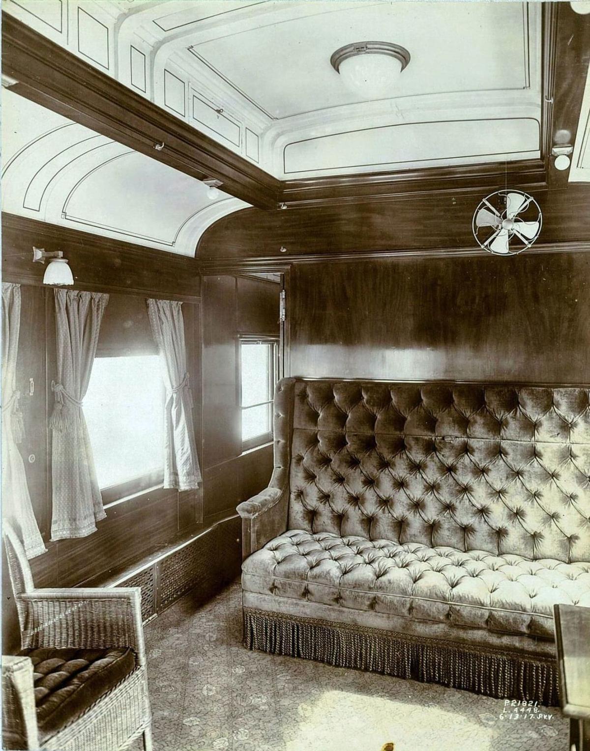 Historic rail car being restored