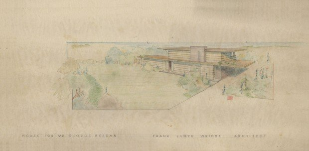 Frank Lloyd Wright blueprints and land in Ludington are for sale ...