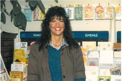 Patty Avery in Greeting Card Section of San Pierre Grocery Store in 1988