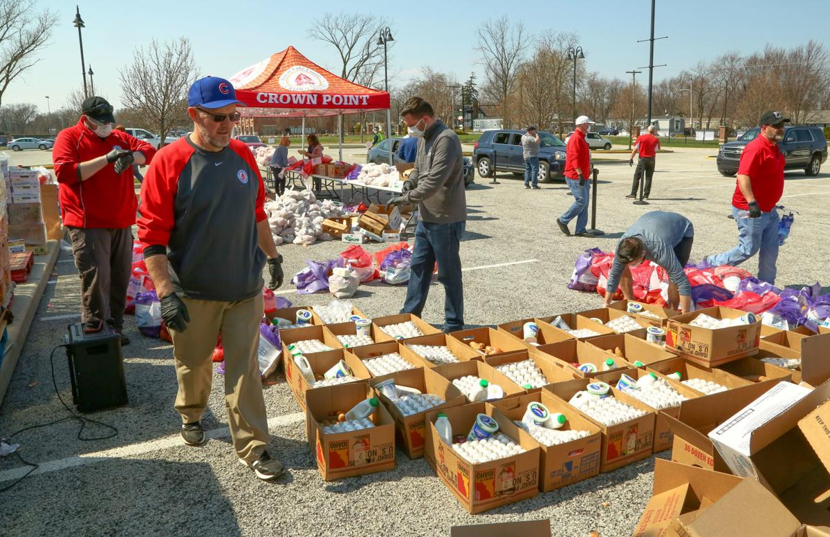 Crown Point free pantry lineup forms long before giveaway begins