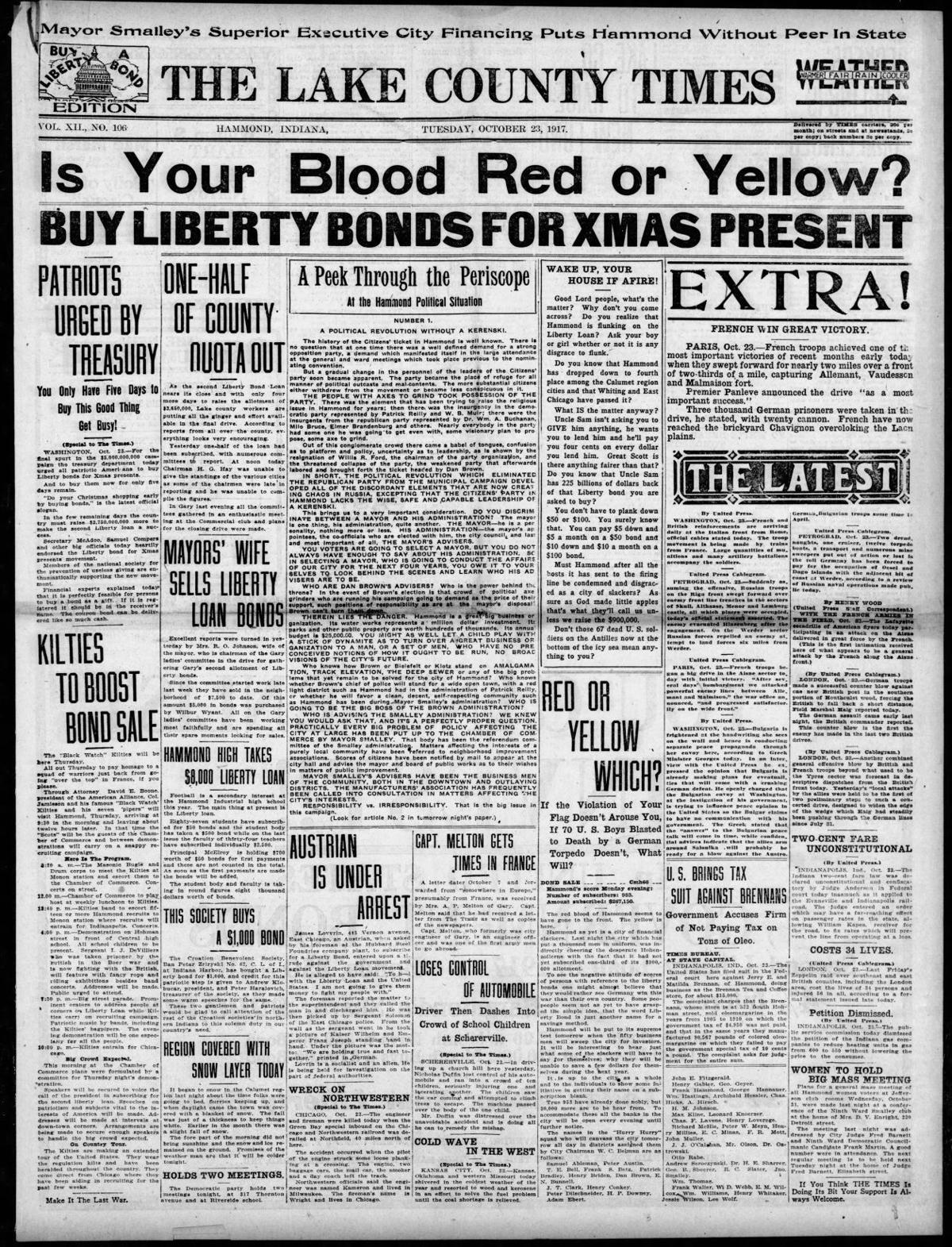 Oct. 23, 1917: Is Your Blood Red or Yellow?