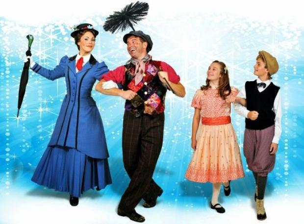 Summer Smart And Bernie Yvon As Mary Poppins And Bert The