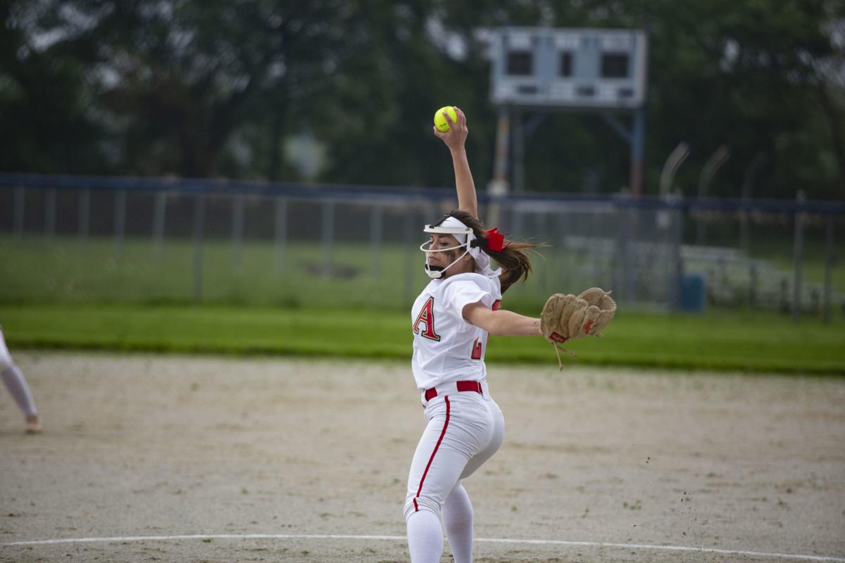 Softball match between Boone Grove and Andrean
