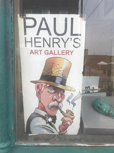 Paul Henry's Art Gallery exhibiting faces in 'The Crowd