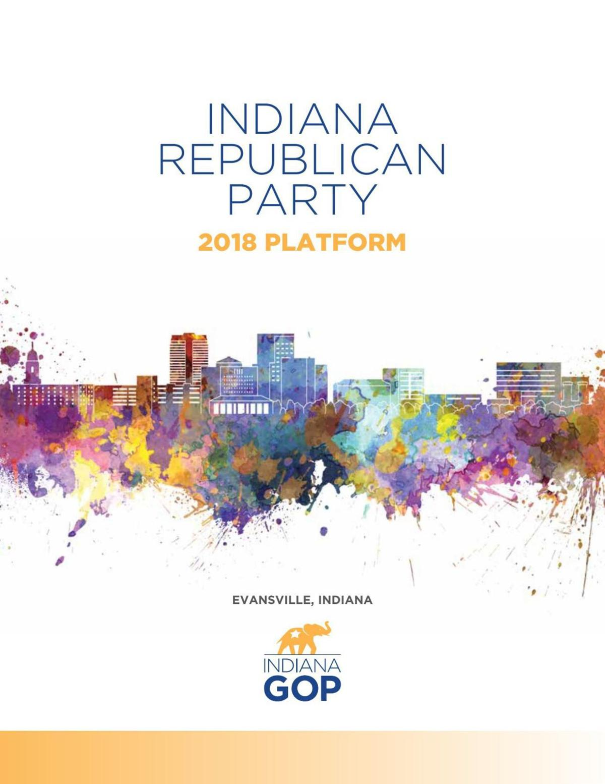 Download PDF Proposed 2018 Indiana Republican Party Platform
