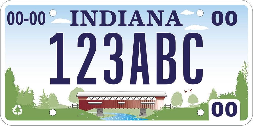 Hoosiers pick covered bridge for new license plate design