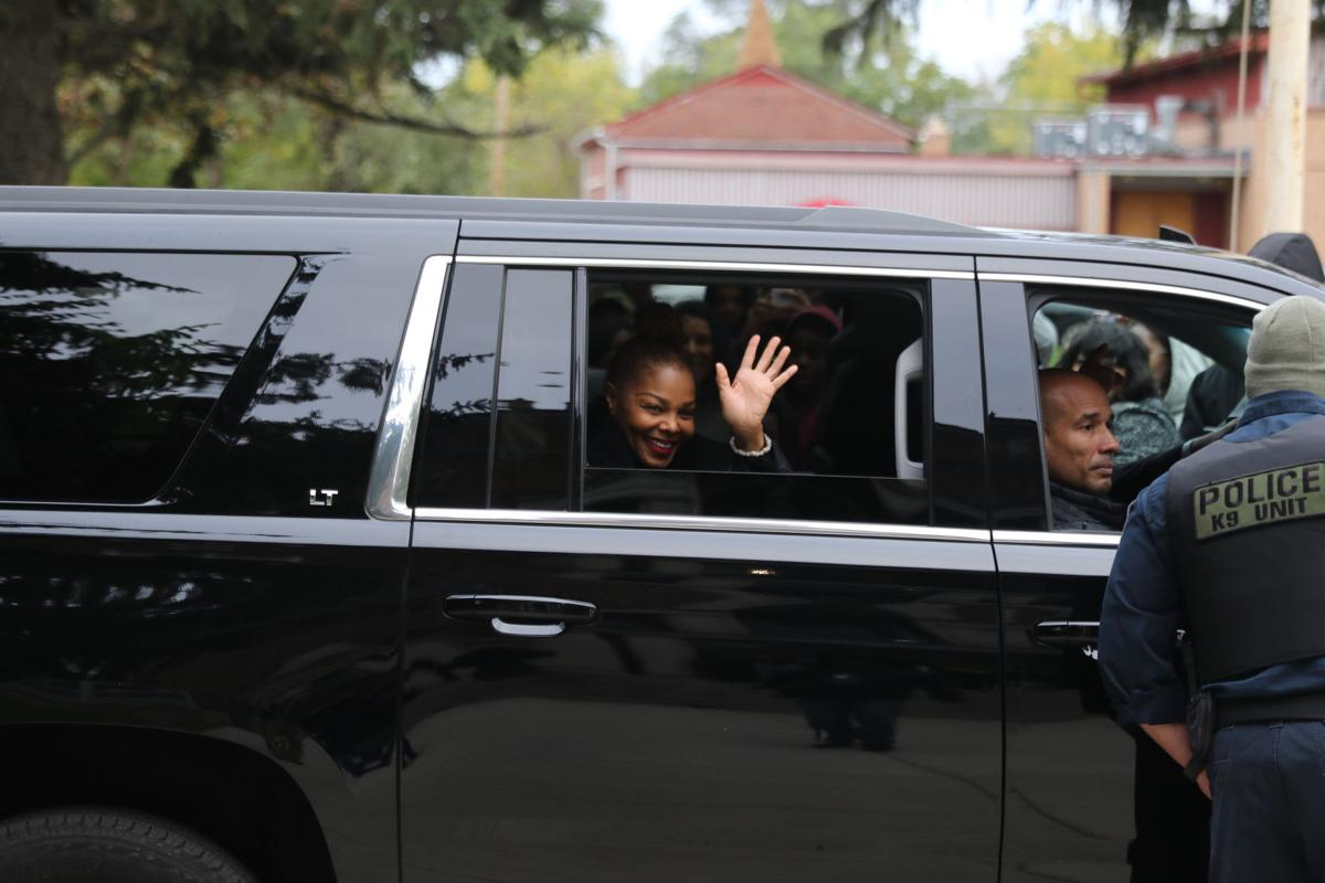 Janet Jackson waves goodbye after hometown visit to Gary