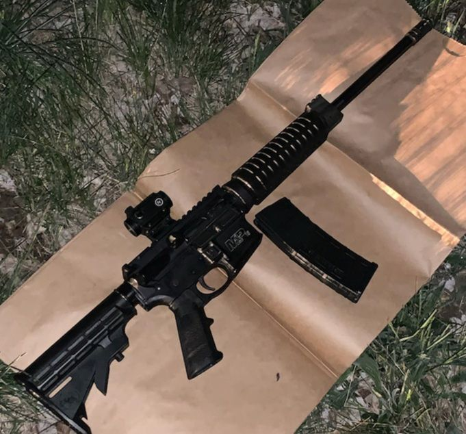 Recovered AR-15 rifle