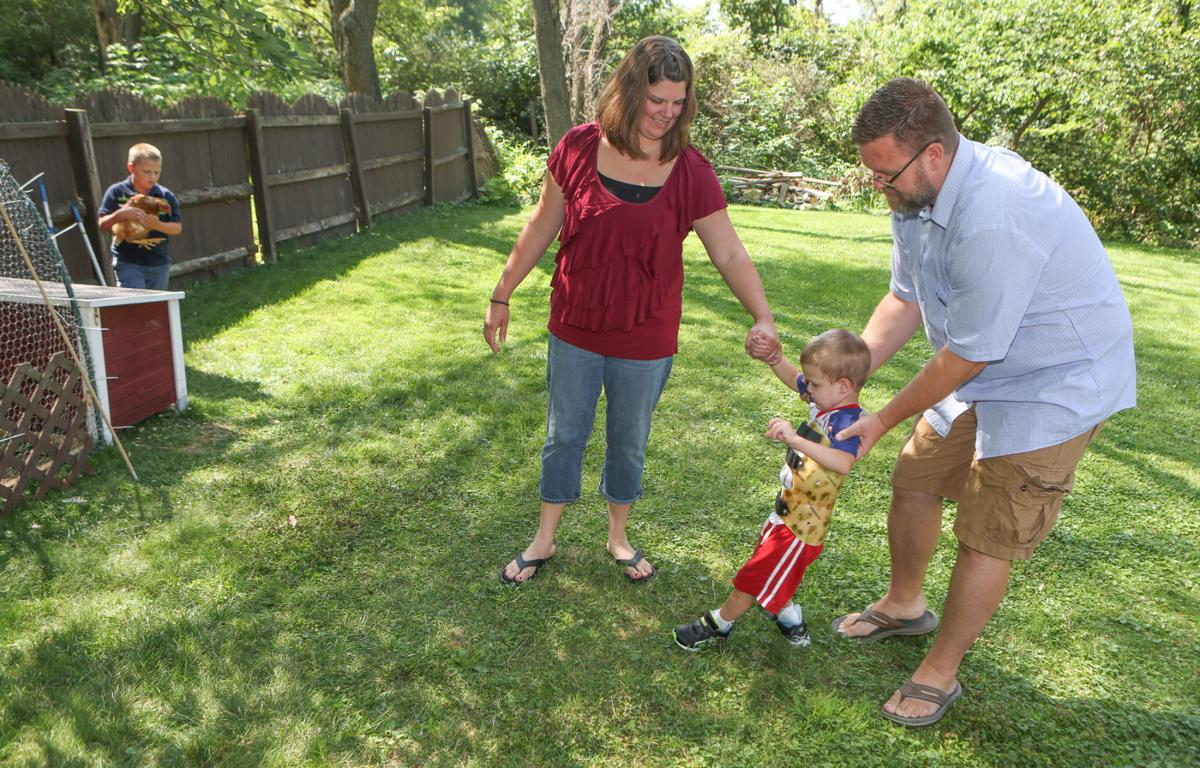David Corrie recently lost 55 pounds so he could better take care of his 3-year-old son