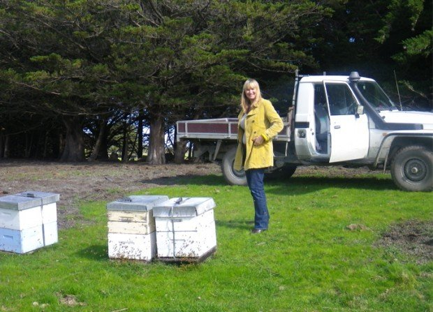 Actress Anna Wilding Visiting Her New Zealand Honey Bee Hives