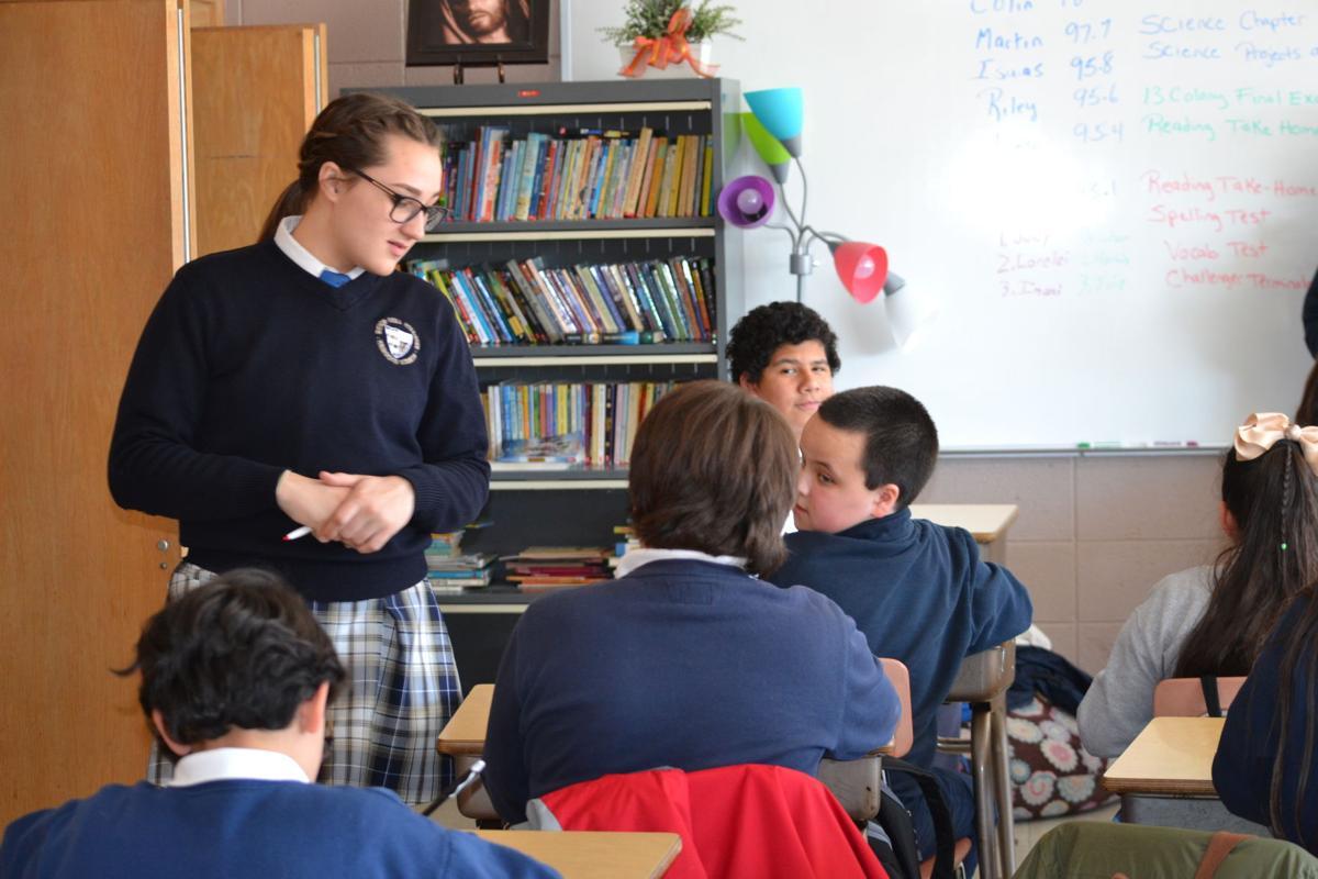 Bishop Noll students
