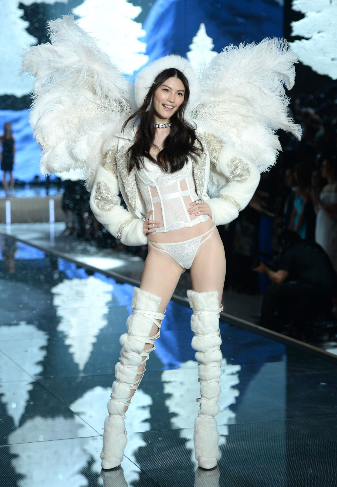 5ccfb579d5d Sui He walks the runway during the Victoria s Secret Fashion Show at the  Lexington Armory on Tuesday
