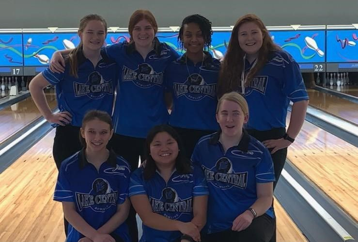 Lake Central girls bowling
