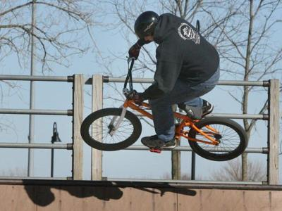 Cyclists show off moves at Crown Point Skate Park (copy)