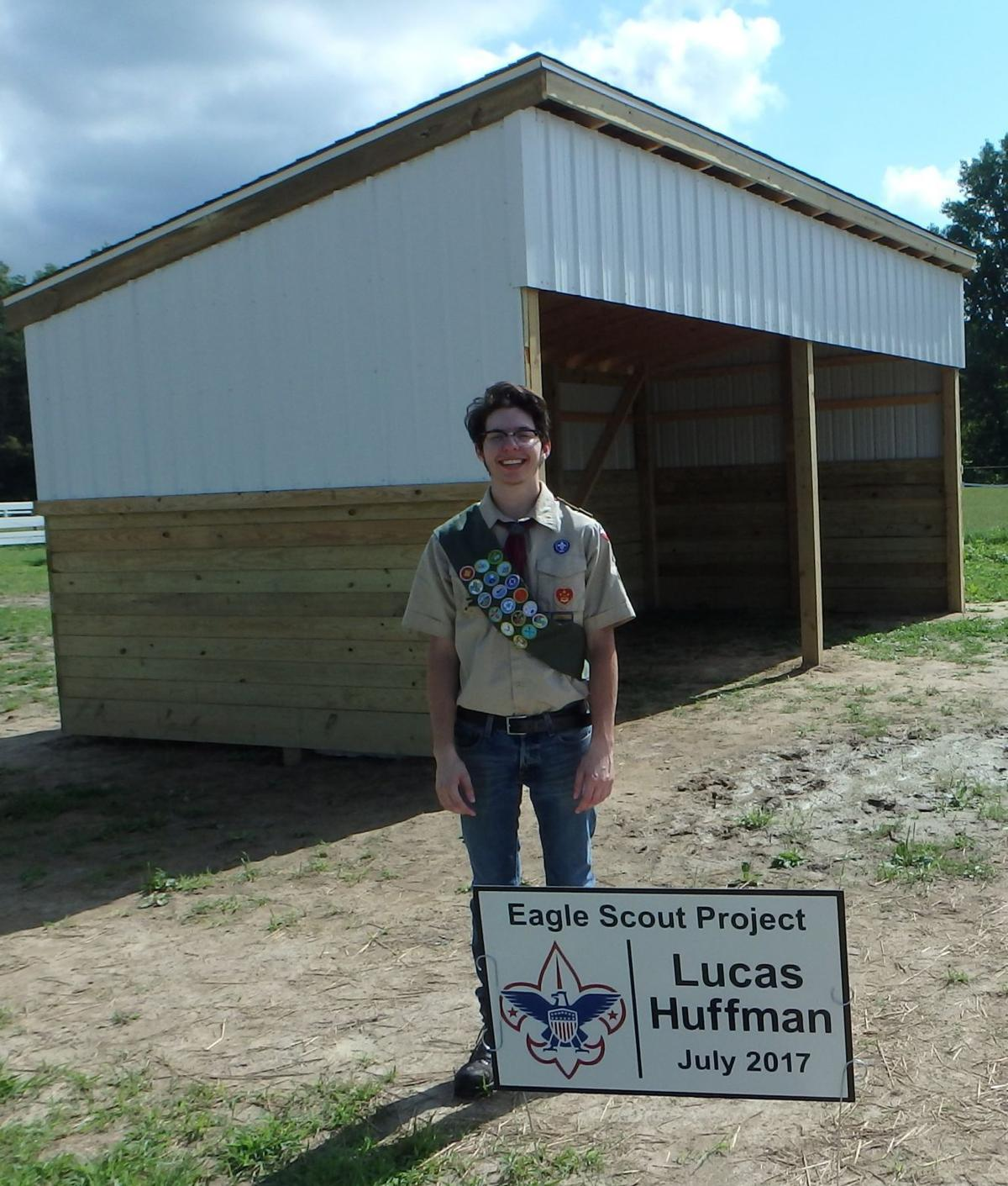 Lucas Huffman earns Eagle Scout