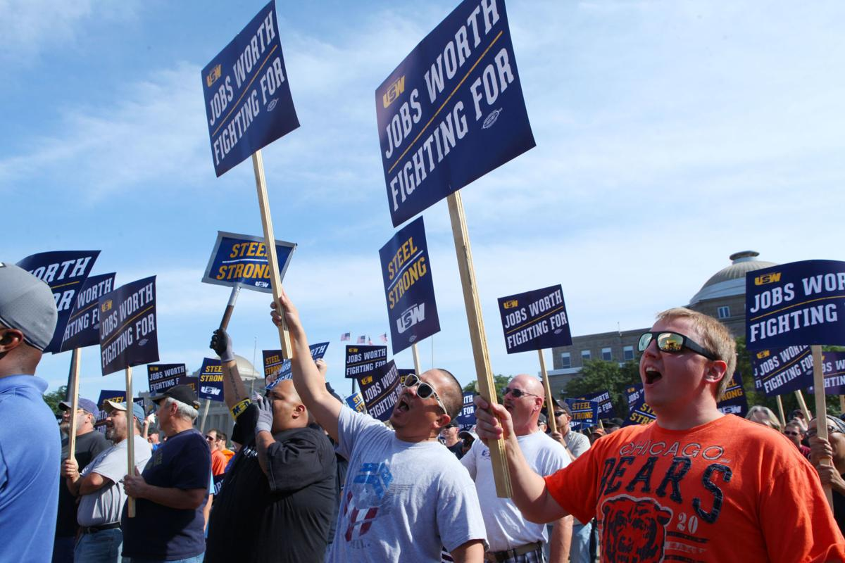 Steelworkers rally in Gary