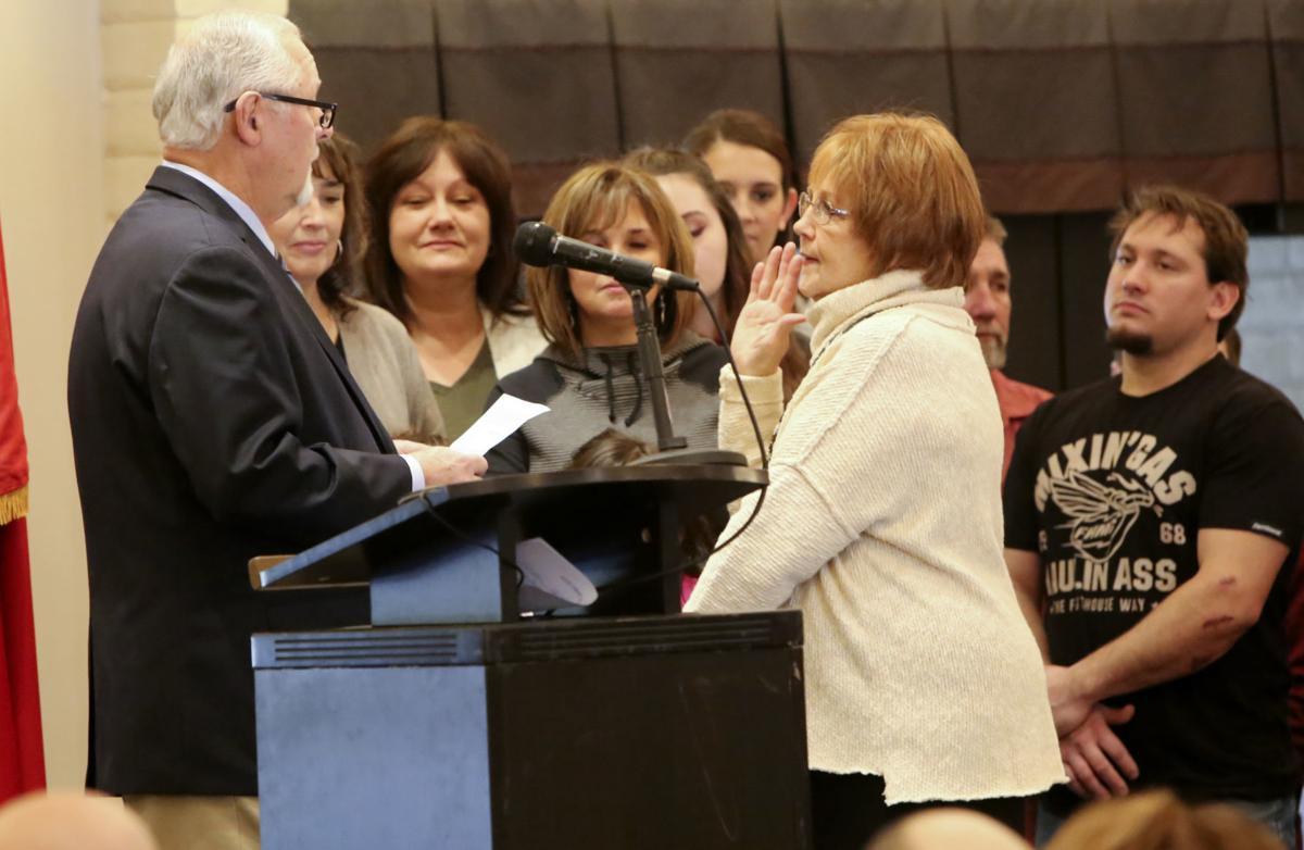 Sue Lynch, new Portage Mayor sworn into office