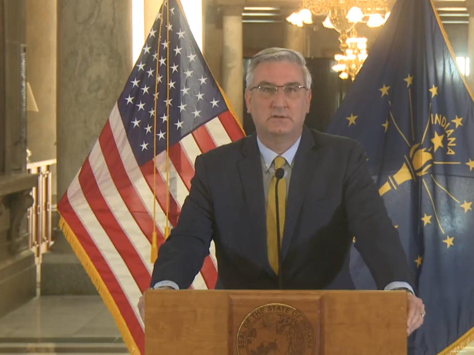 Holcomb blasts destruction as 'domestic terrorism,' affirms right to peaceful protests