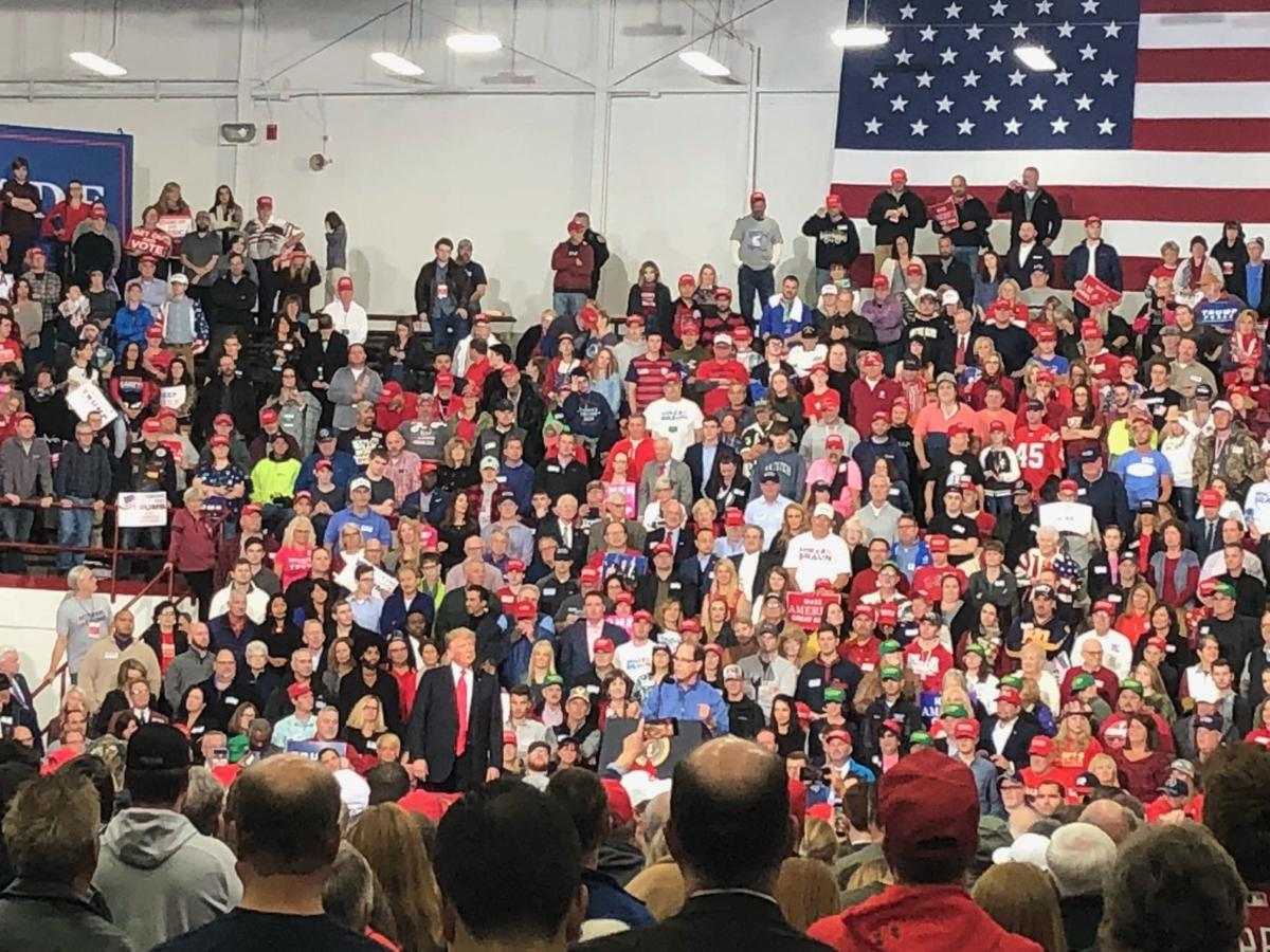 Trump makes upcoming Indiana elections all about Trump at capital city rally