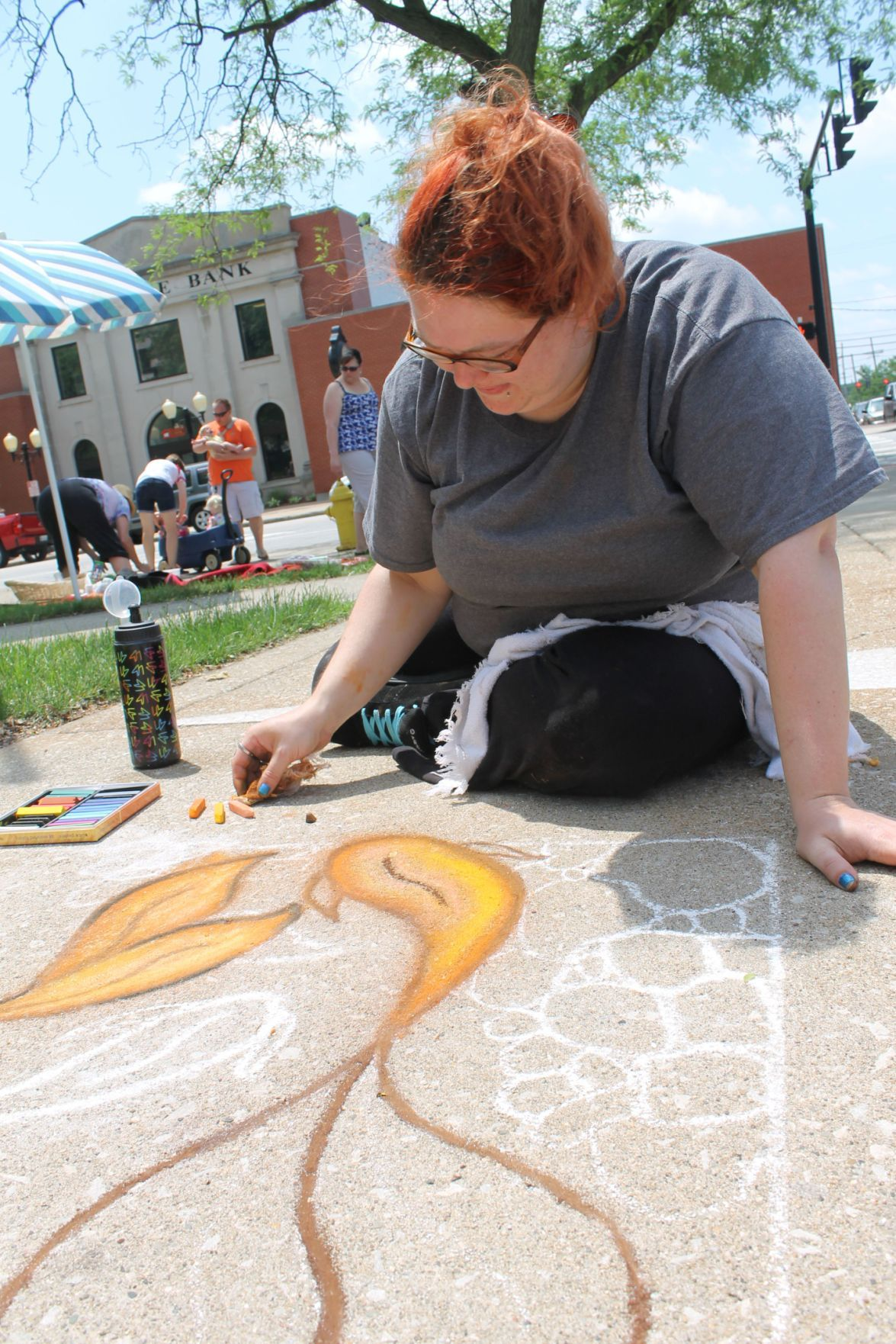 Colors abound at annual Chalk the Walk fundraiser