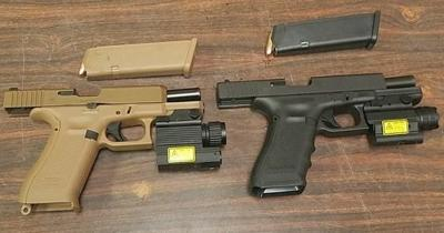 Trooper recovered two handguns 1 hour after they were reported stolen to Gary police