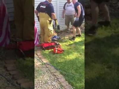 Valpo firefighters rescue fawn from 10-foot deep pit