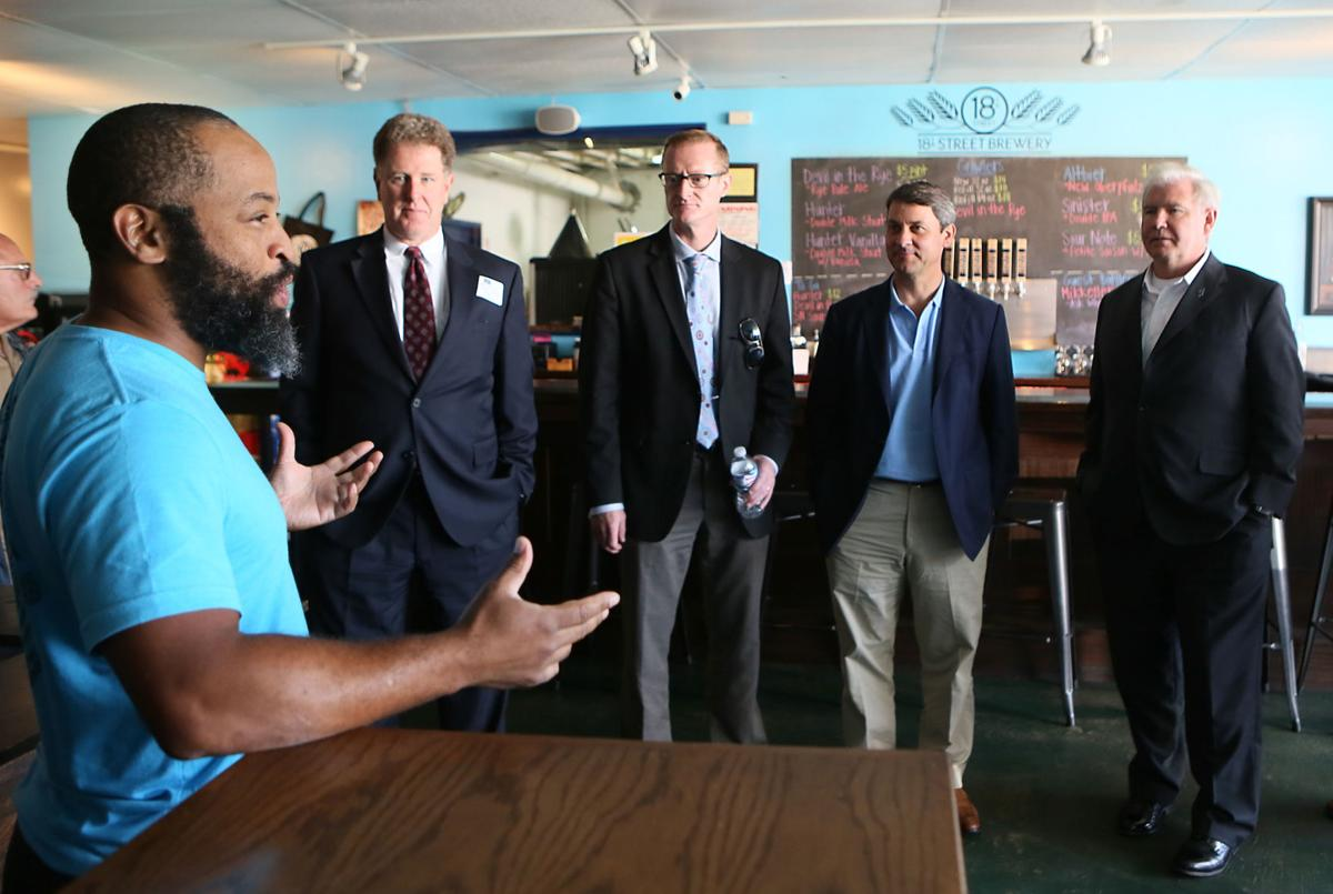 Indiana officials tour 18th St. Brewery