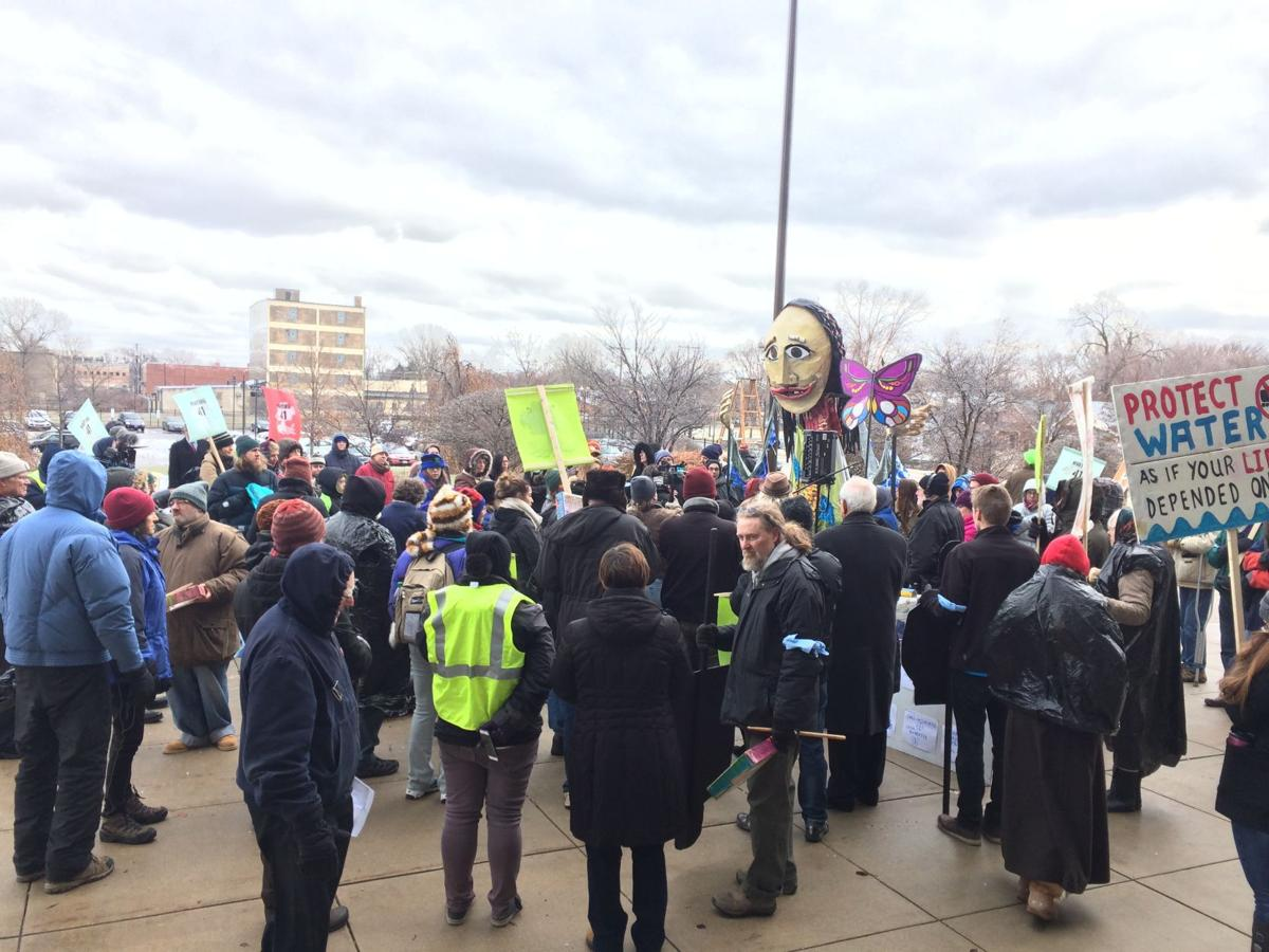 Protesters call on Donnelly to oppose Trump's Cabinet picks
