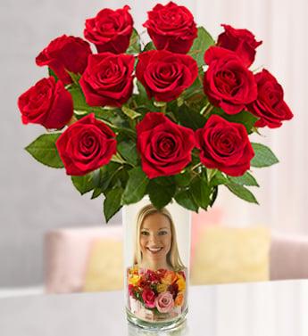 1 800 flowers com personalized vase and custom flower arrangement