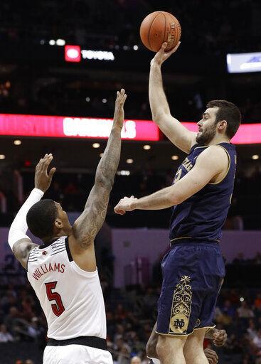 Nwora scores 24, Louisville tops Notre Dame 75-53
