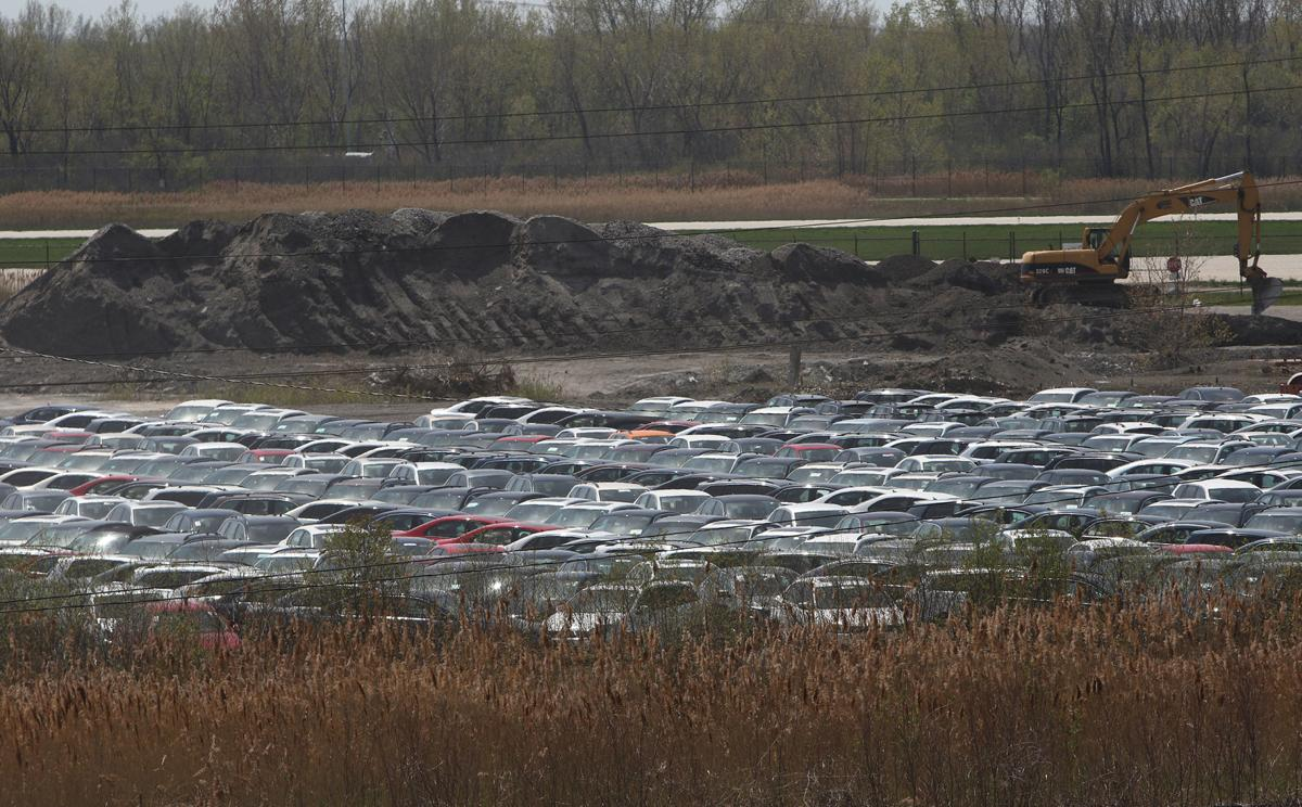 Volkswagen cars being stored at Gary/Chicago International Airport