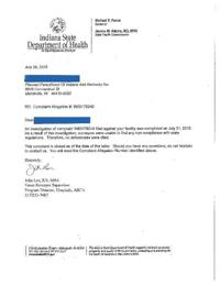 Isdh Letter To Indianapolis Planned Parenthood Clinic Nwitimes Com