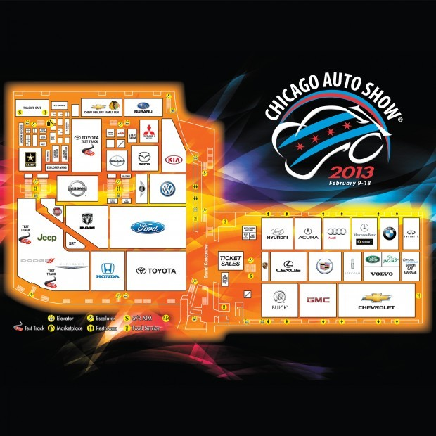 2013 Chicago Auto Show floor map