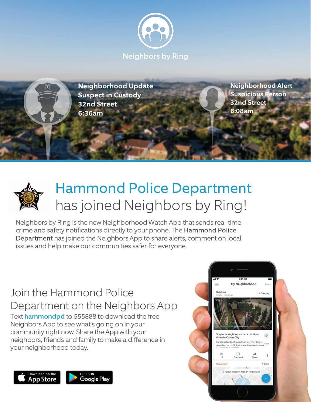 Hammond PD adopts smartphone app for 'digital neighborhood