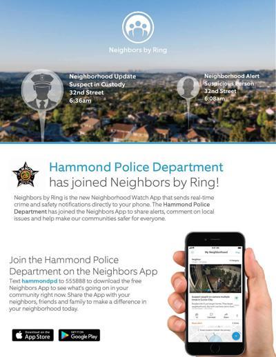 Hammond police neighbors app