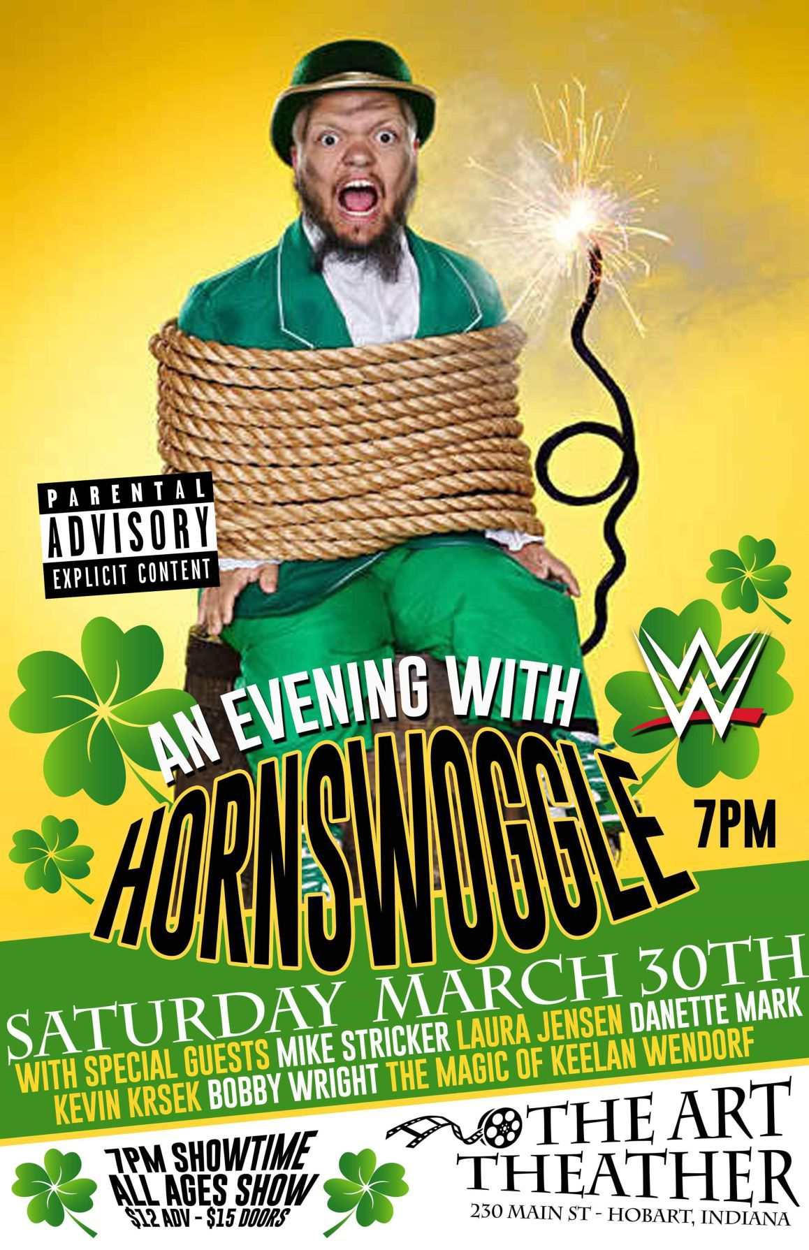 WWE wrestler Hornswoggle to headline stand-up comedy night at Hobart Art Theatre