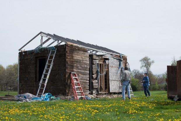 Linden log cabin finds a new home