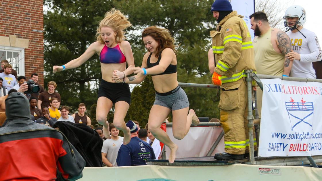 Hundreds take plunge into frigid waters for charity