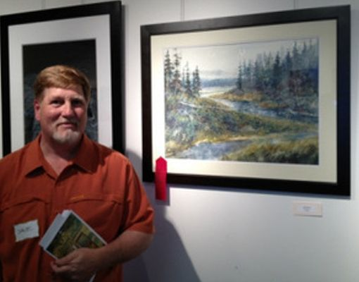 Illiana Artists welcome guests to watercolor demo