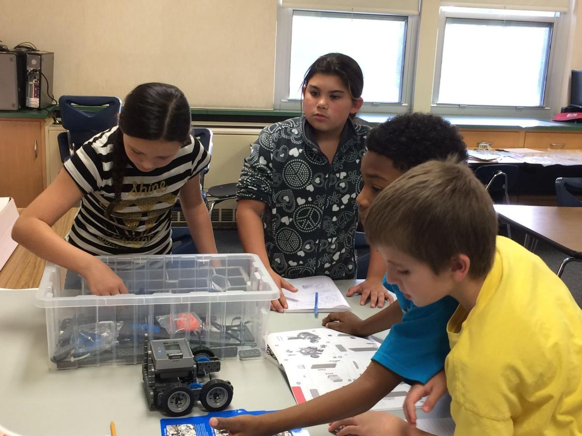 Portage elementary students use robots to build problem solving skills