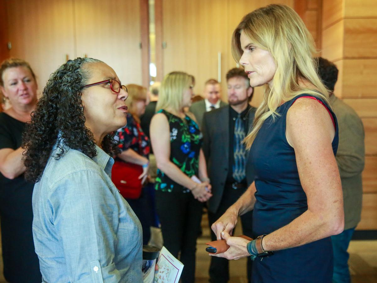 Mariel Hemingway at the Indiana Suicide Prevention Conference.