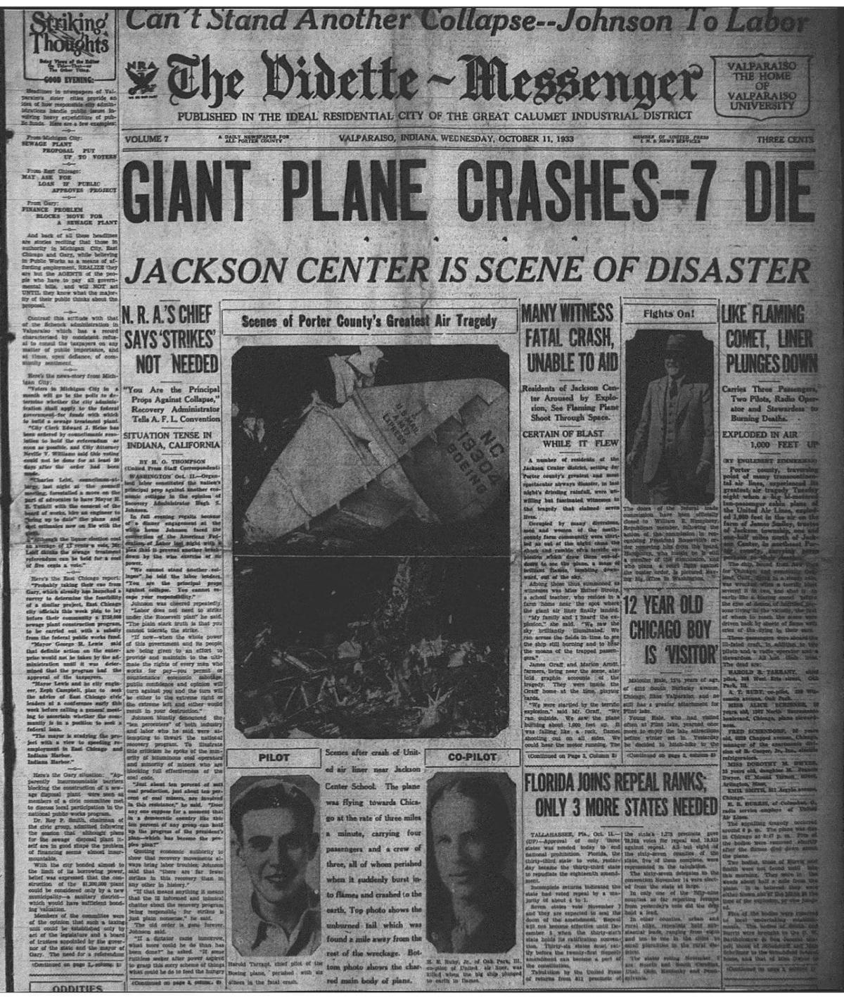 Chesterton plane crash